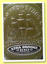 Ezra Brooks '100 Months Old' (90° US proof, OB, decanter, 1970)