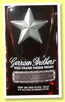 Garrison Brothers 4 yo 2012/2016 (47%, OB, for Peter Siegenthaler, Texas bourbon, barrel #3440)