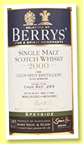 Glen Spey 13 yo 2000/2014 (46%, Berry Bros & Rudd, cask #263)