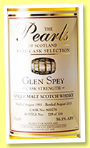 Glen Spey 1991/2015 (56.1%, Pearls of Scotland, cask #800276, 318 bottles)Glen Spey 1991/2015 (56.1%, Pearls of Scotland, cask #800276, 318 bottles)