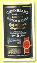 Glengarioch 26 yo 1990/2016 (44.4%, Cadenhead, Authentic Collection, 186 bottles)