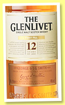 Glenlivet 12 yo 'First Fill' (40%, OB, +/-2017)