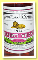 Glenlivet 1974/2011 (43%, Gordon & MacPhail, licensed label, Rare Vintage)