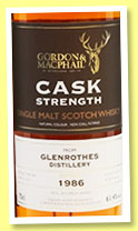 Glenrothes 1986/2017 (61.4%, Gordon & MacPhail for The Whisky Show Old & Rare, cask # 20235)