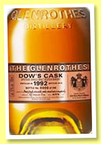 Glenrothes 24 yo 1992/2016 'Dow's Cask' (57%, OB for The Grimaldi Collection, Monaco, 322 bottles)
