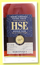 HSE 1998/2009 (47.8%, OB, Martinique, agricole, single cask, cognac cask #29, 600 bottles, 70cl)