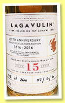 Lagavulin 15 yo 2001/2016 (54.2%, OB, 200th Anniversary, Casks of Distinction, Private Collector Edition, hogshead, cask #9554, 264 bottles)