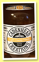 Light Creamy Vanilla 18 yo 'Batch 3' (44.6%, Cadenhead Creations, blended Scotch, 2017)