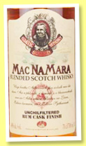 MacNamara 'Rum Cask Finish' (40%, Prában na Linne, blended Scotch, +/-2016)
