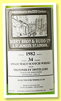 Miltonduff 33 yo 1982/2016 (48.9%, Berry Bros & Rudd, for for Japan, cask #3734, hogshead)