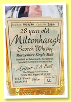 Miltonhaugh 28 yo 1966 (63.5%, The Whisky Connoisseur, cask #3154, +/-1994)