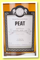 Peat 10 yo (46%, Malts of Scotland, blended malt, +/-2016)