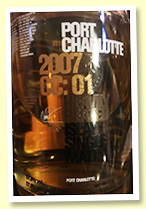 Port Charlotte 2007/2016 'CC:01' (57.8%, OB, Travel Retail Exclusive, ex-Cognac casks)