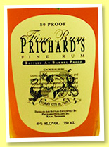 Prichard's Fine Rum (40%, OB, USA, +/-2017)