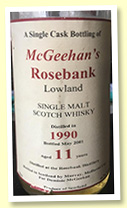 Rosebank 11 yo 1990/2001 (46%, Murray McDavid for Dominick McGeehan)