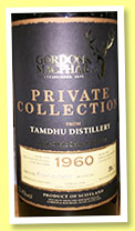 Tamdhu 1960/2013 (52.4%, Gordon & MacPhail, Private Collection, sherry hogshead, cask #1008, 36 bottles)