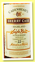 Teaninich 22 yo 1993/2016 (51.9%, Cadenhead, sherry wood, 258 bottles)