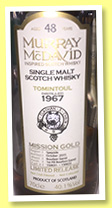 Tomintoul 48 yo 1967/2015 (40.1%, Murray McDavid, bourbon barrel, casks #150031-150032)