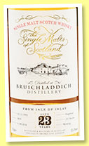 Bruichladdich 23 yo 1992 (55.4%, The Single Malts of Scotland, hogshead, cask #3839, 237 bottles)