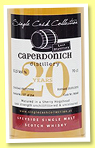 Caperdonich 20 yo 1994/2015 (53.5%, Single Cask Collection, sherry hogshead, cask #96540, 254 bottles)