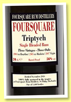 Foursquare 'Triptych' (56%, OB/Velier, Barbados, 5,400 bottles, 2016)