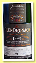 Glendronach 21 yo 1993/2014 (58.1%, OB, for Beija-Flor and Silver Seal, oloroso sherry butt, cask #35, 605 bottles)