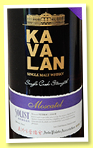 Kavalan 2010/2016 'Solist' (54%, OB, Taiwan, for Asia Palate Association, Moscatel sherry cask, cask #MO100623025A, 496 bottles)