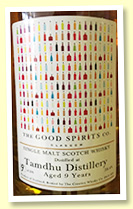 Tamdhu 9 yo (58.4%, Creative Whisky Co for The Good Spirits Co. Ex-bourbon barrel finished in ex-Koval bourbon casks, 270 bottles)