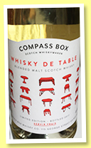 Whisky de Table (40%, Compass Box, batch #2, blended malt, 2017)