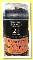 Ben Nevis 21 yo 1996/2017 (48.7% The Nectar of the Daily Drams)