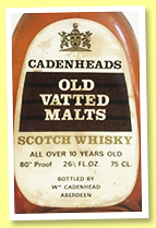 Cadenhead's 10 yo 'Old Vatted Malt' (80°proof, Cadenhead, 75cl, 1970s)