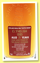 Clynelish 21 yo 1995/2017 (54.7%, Signatory Vintage for The Whisky Exchange, refill sherry butt, #8676, 544 bottles)
