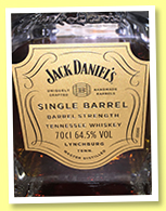 Jack Daniel's 'Single Barrel' (64.5%, OB, for La Maison du Whisky, Tennessee Whiskey, 252 bottles, 2017)