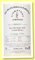 Linkwood 17 yo 1999/2016 (46%, Signatory Vintage, Un-chillfiltered Collection, hogshead, cask #6174)