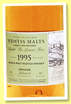 Linkwood 1995/2017 'Under The Lemon Tree' (46%, Wemyss Malts, hogshead, 319 bottles)