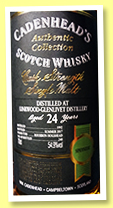 Linkwood-Glenlivet 24 yo 1992/2017 (54.9%, Cadenhead, Authentic Collection, bourbon hogshead, 240 bottles)