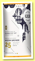 Mystery Speyside 25 yo (45%, Billy's Whisky Barrel for G&B Whiskyfest Ostende, 2017)