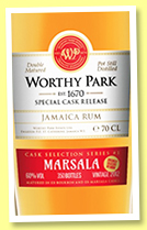 Worthy Park 'Marsala' (60%, OB, Jamaica, double matured, 2017)
