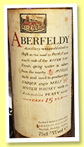 Aberfeldy 15 yo (43%, OB, Japan, 75cl, +/-1985)