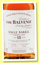 Balvenie 15 yo 'Single Barrel Sherry Cask' (47.8%, OB, cask #2052, +/-2018?)