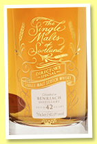 Benriach 42 yo (41%, The Single Malts of Scotland, Director's Special, for The Whisky Show Old & Rare, 147 bottles, 2018)