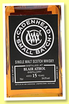 Blair Athol 15 yo 2001/2016 (54.6%, Cadenhead, Small Batch, sherry hogshead, 300 bottles)