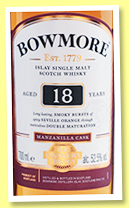 Bowmore 18 yo 'The Vintner's Trilogy' (52.5%, OB, +/-2018)