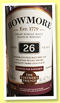 Bowmore 26 yo 'The Vintner's Trilogy' (48.7%, OB, +/-2018)
