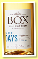 Box 'Early Days Batch 001' (51.2%, OB, Sweden, 2017)