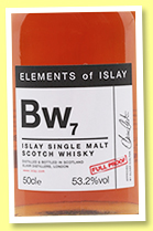 Bw7 (53.2%, Speciality Drinks Ltd, Elements of Islay, 2017)