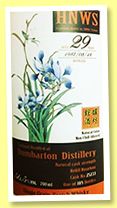 Dumbarton 29 yo 1987/2016 (56.5%, Whiskybroker for HNWS Taiwan, refill bourbon barrel, cask #25233, 185 bottles)