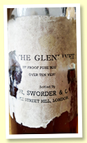 Glenlivet 'Pure Malt Over 10 Years Old' (75 proof, Sworder & Co Ltd, -/+ 1960)