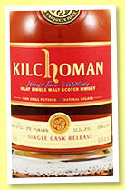 Kilchoman 2011/2017 (56.5%, OB for Whiskybase, 10th Anniversary, PX finish, 213 bottles)