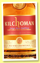 Kilchoman 'Red Wine Cask Matured' (50%, OB, +/-2017)